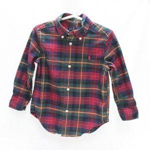 Ralph Lauren Polo Boys Plaid Button Down Shirt